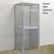 Hallowell BSL483690-R-2S-PL Bulk Storage Locker Double Tier Starter 48x36x45