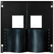 Chase Doors Extra HD Double Panel Traffic Door 8'W x 9'H Black DID96108-BK