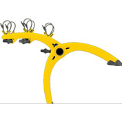 Saris Bones 3-Bike Rack Yellow