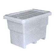 Bonar Plastics FDA Multi-Tote with Lid MT140-A001 - 41-1/4 x 27-3/4 x 30-1/4 844 lb Capacity Natural