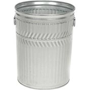 Galvanized Garbage Can - 32 Gallon Heavy Duty