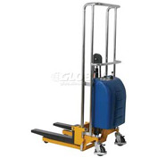 "Wesco® Value Lift Powered Stacker 273204 880 Lb. Cap. 59"" Lift"