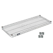 "Nexel S1836S Stainless Steel Wire Shelf 36""W x 18""D with Clips"
