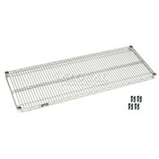 "Nexel S2448S Stainless Steel Wire Shelf 48""W x 24""D with Clips"