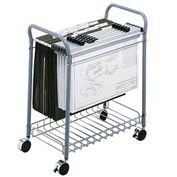 Rolling Oversize File Cart Gray
