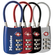 "Master Lock® Tsa Accepted Luggage Combination Padlock 2""W Assorted Colors Price Each - Pkg Qty 4"