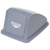 "Global™ Recycling Trash Lid - Gray 13""W x 18""D x 9""H"