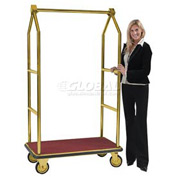 Aarco Easy-Roll Brass Bellman Hotel Luggage Cart LC-2B 42 x 24