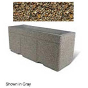 "Concrete Outdoor Planter w/Forklift Knockouts, 72""Lx24""W x 30""H Rectangle Tan River Rock"