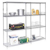 "Nexel Poly-Z-Brite Wire Shelving 72""W x 21""D x 54"
