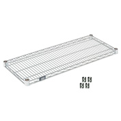 "Nexel S2142Z Poly-Z-Brite Wire Shelf 42""W x 21""D with Clips"