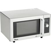 Amana RMS10DS - Microwave Oven, Commercial, 0.8 Cu. Ft., 1000 Watt, Dial Control, Stainless Steel