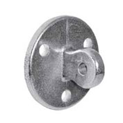 "Kee Safety - LM58 - Aluminum Male Wall Plate, 1-1/2"" Dia."