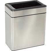 simplehuman® Profile Open Can - 2-3/5 Gallon Brushed SS