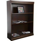 "Jefferson Traditional Bookcase 48"" H, Walnut"