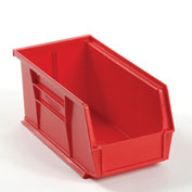 Global™ Plastic Storage Bin - Small Parts 5-1/2 x 10-7/8 x 5, Red - Pkg Qty 12