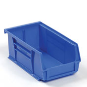 Global™ Hanging & Stacking Storage Bin 4-1/8 x 7-3/8 x 3, Blue - Pkg Qty 24