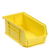 Global™ Plastic Storage Bin - Parts Storage Bin -  4-1/8 x 7-3/8 x 3, Yellow - Pkg Qty 24