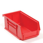 Global™ Plastic Storage Bin - Small Parts 4-1/8 x 7-3/8 x 3, Red - Pkg Qty 24