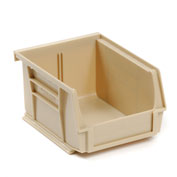 Global™ Stackable Storage Bin 4-1/8 x 4-1/2 x 3, Beige - Pkg Qty 24