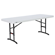 "Lifetime® 72"" Adjustable Height Folding Table Almond"