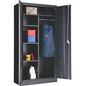 """Global™ Combination Cabinet Easy Assembly 36""""W x 18""""D x 72""""H Black"""