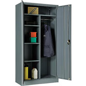 """Global™ Combination Cabinet Easy Assembly 36""""W x 18""""D x 72""""H Gray"""