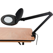 3 Diopter Fluorescent Magnifying Lamp With Covered Metal Arm Black