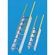 """Equipto - Ships Stair 24"""" W Tread - Floor Heights (6'-6"""" to 7'-5"""")"""