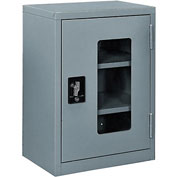 "Global™ Clear View Wall Storage Cabinet Assembled 18""W x 12""D x 26""H Gray"
