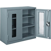 """Global™ Clear View Wall Storage Cabinet Assembled 30""""W x 12""""D x 30""""H Gray"""