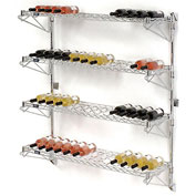 "Wine Bottle Rack - Wall Mount 52 Bottle 48"" x 14"" x 54"""