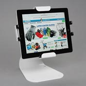 Peerless® Universal Desktop Tablet Mount With Theft Resistant Hardware, White