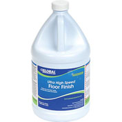 Global™ Ultra High Speed Floor Finish - Case Of Four 1 Gallon Bottles