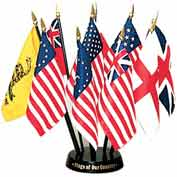 "Flags of Our Country Display - 10 Flag Set - 4"" x 6"""