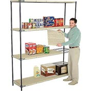 Vented Plastic Shelving 72x24x86 Nexelon Finish