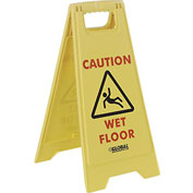 Global™ Floor Sign 2 Sided - Caution Wet Floor