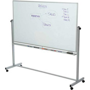 Rolling Magnetic Dry Erase Whiteboard - Double Sided Reversible - 72 x 40