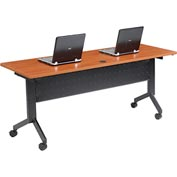 "Interion™ - Training Table, Flip-Top 72""L Cherry Finish Top"