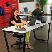 "Interion® Collaboration Table, Single Sided, 60""W x 30""D x 30""H"