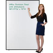 "Interion™ Office Cubicle Partition Panel with Whiteboard, 48-1/4""W x 72""H"