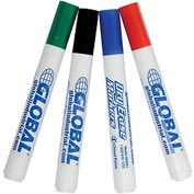 Global Industrial™ Dry Erase Marker Set, Pack of 4