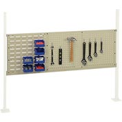 "Mounting Kit with 18""W Louver and 36""W Pegboard for 60""W Workbench -Tan"