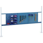 "Mounting Kit with 18""W Louver and 36""W Pegboard for 72""W Workbench - Blue"