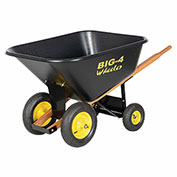Vestil 4-Wheel Plastic Nursery Wheelbarrow WLB4-500 10 Cu. Ft. 500 Lb. Capacity