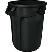 Rubbermaid Brute® 2643-60 Trash Container w/Venting Channels, 44 Gallon - Black