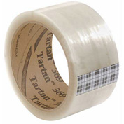 "3M Tartan Carton Sealing Tape 369 2"" x 110 Yds 1.6 Mil Clear - Pkg Qty 6"