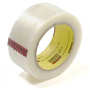 "3M™ Scotch® 371 Carton Sealing Tape 2"" x 110 Yds. 1.9 Mil Clear - Pkg Qty 6"
