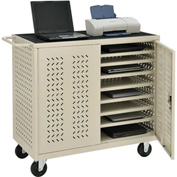 Mobile Storage & Charging Cart for 24 Laptop & Chromebook™ and Tablets (Putty) - Assembled