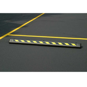 "Eagle Parking Curb with Hardware 72""L x 4""H x 8""W Black/Yellow, 1790BLK"